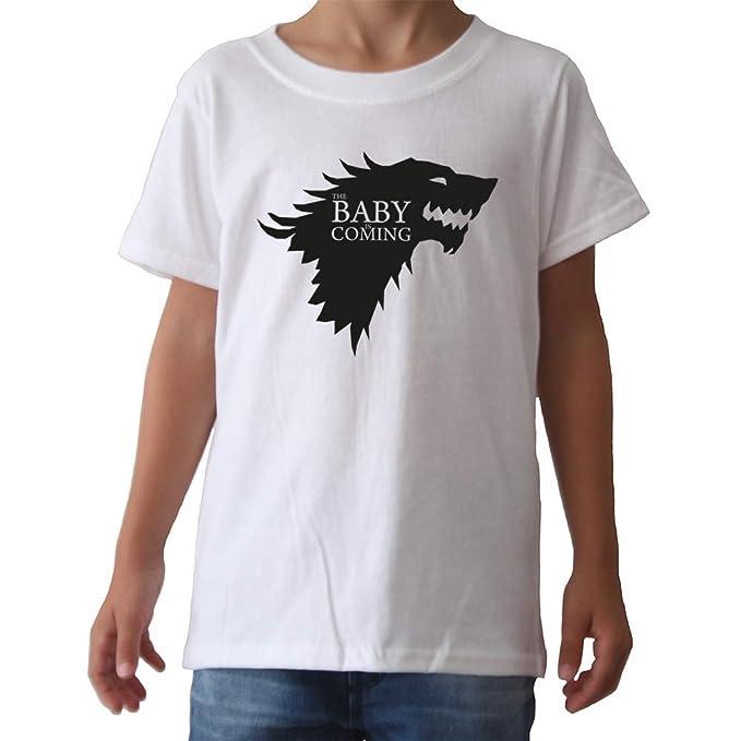 GAMBA TARONJA Baby IS Coming - Camisetas - Infantil - Winter IS Coming - Juego de Tronos - Game of Thrones: Amazon.es: Ropa y accesorios