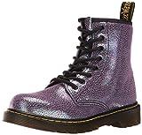Dr. Martens Kid's Delaney IE Lace Fashion Boots, Purple Leather, 2 Little Kid M UK, 3 M