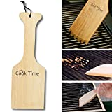 Wooden Grill Scraper Natural Wood BBQ Grill Cleaner Barbecue Grill Brush Non-bristles Safer Than Wire Brush Woody Safe Scrape Barbecue Griddle Cleaning Tool