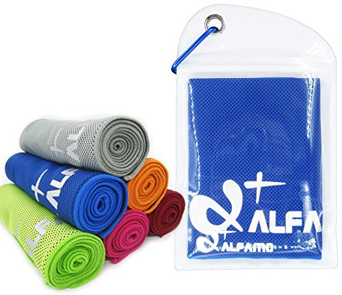 alfamo-40-inch-cooling-towel-with-carabiner-waterproof-bag-dark-blue