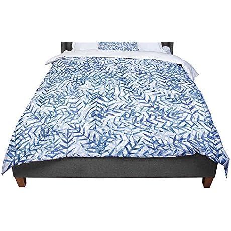 KESS InHouse Strawberringo Dark Blue White Queen Comforter 88 X 88