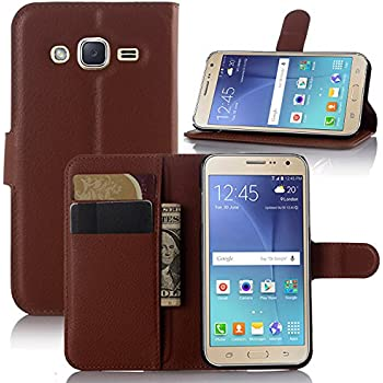 Galaxy J3 Case, Galaxy J3 V Case, Samsung Galaxy Express Prime Case, Demo@ Flip Pu Leather Wallet Case Cover For Samsung Galaxy J3/J3 V (Wallet-Brown)