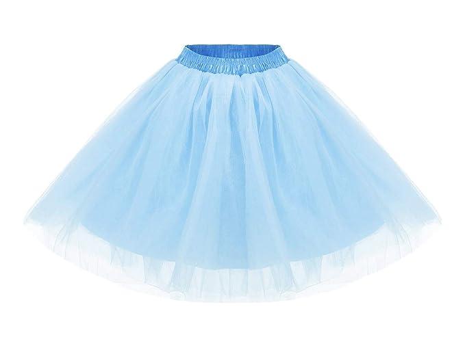 Tewess - Falda de Tul Corta para Mujer, tutú, Vestido de Ballet ...