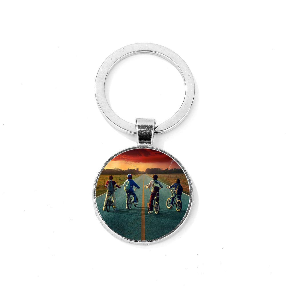 Stainless Steel Horse Keychain Keyring Key Chain Classic Pendant Key Bag Chain