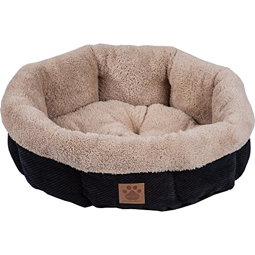 Precision Pet SnooZZy Mod Chic Round Shearling Bed, (Snoozzy Pet Bed Plush)