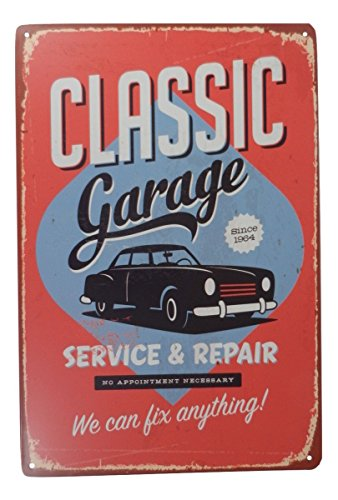 Classic Garage Funny Tin Sign Bar Pub Diner Cafe Home Wall Decor Home Decor Art Poster Retro Vintage (Car Signs Classic)
