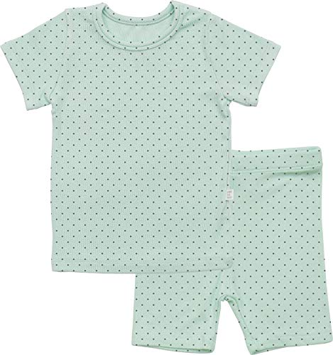 AVAUMA Newborn Baby Little Boys Snug-Fit Polka Dot Pajamas Summer Short Sets Pjs Kids Clothes -