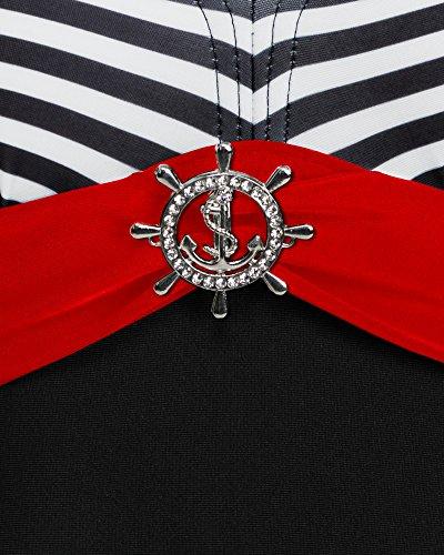 Rosso Donna da Costume Style Bagno 1Q51 Merry Nero wq0Z8W