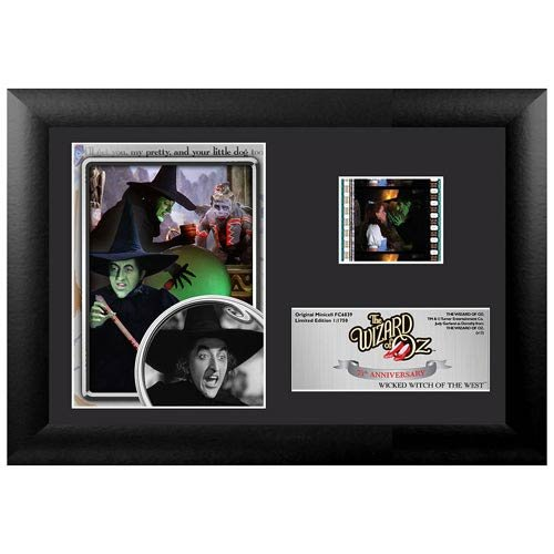The Wizard of Oz 75th Anniversary (Wicked Witch) Framed and Matted Film Cell Minicell (Framed Film Cell Limited Edition)