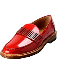 Men's Canvas & Leather Loafers Slip On Shoes US 10 IT 9 EU 43