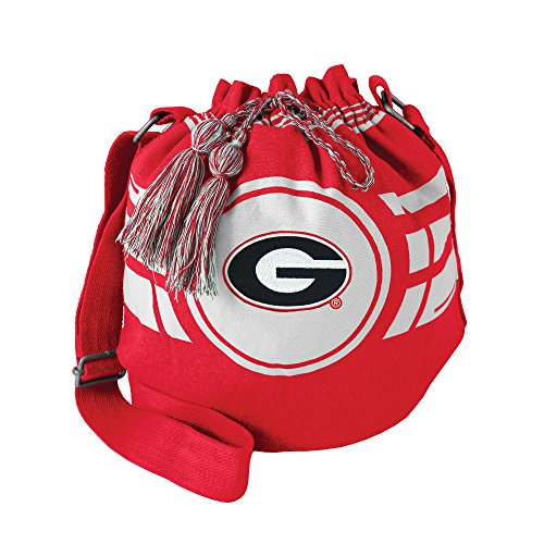 Littlearth NCAA Georgia Bulldogs Ripple Drawstring Bucket Bag (Georgia Bulldogs Ncaa Drawstring)