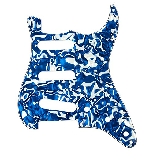 DAndrea Strat Pickguards for Electric Guitar, Blue Swirl Pearl