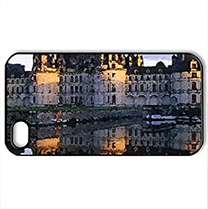 Castle By The Sea - Case Cover for iPhone 4 and 4s (Watercolor style, Black)