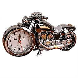 KINGZHUO Luxury Retro Style Motorcycle Alarm Clock Unique Gift for Motor Lovers Kids Boys Exquisite Motorbike Sporting Alarm Clock