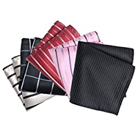 TopTie Men's Pocket Square Fashion Handkerchief Towel, 5 pc Mixed Pattern