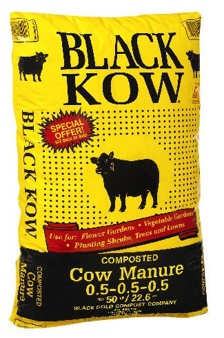 Composted Manure - Black Gold Compost 60221 Compost Cow Manure, 50 lb