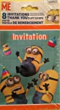 Minion Invitations and Thank You