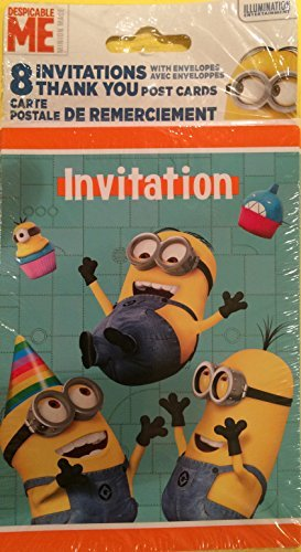 Minion Invitations and Thank You -