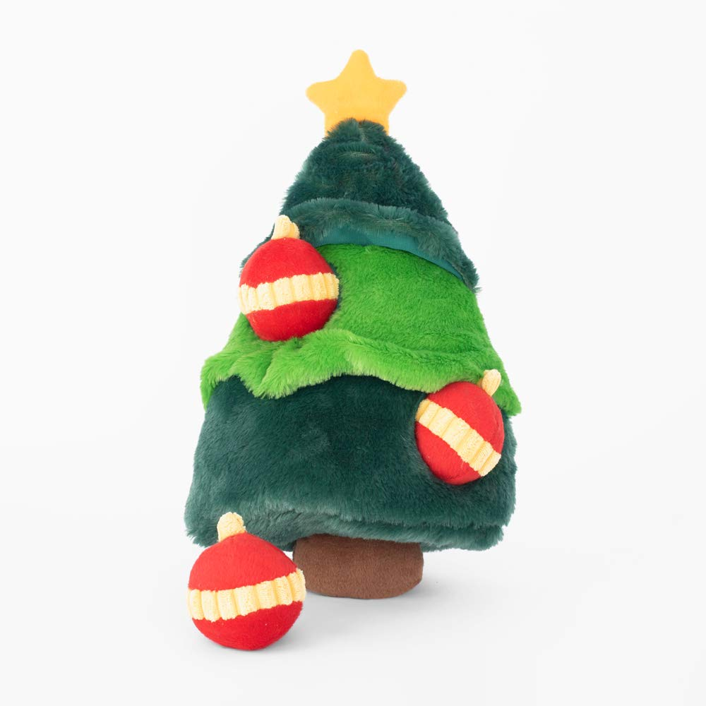 Interactive Squeaky Hide and Seek Plush Dog Toy Holiday Burrow ZippyPaws