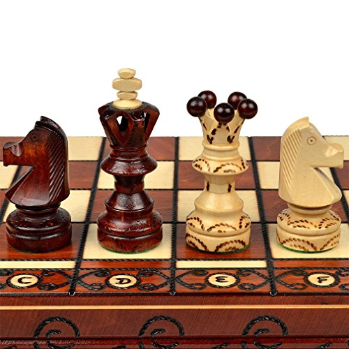 Chess Set: Ambassador European International Chess Set - 20