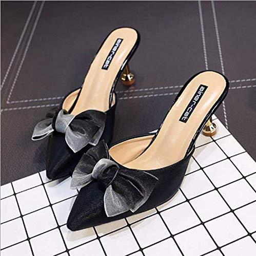 black d'accordo papillon drag fuori sexy 37 baotou sharp 7cm KOKQSX con zp4qwwC