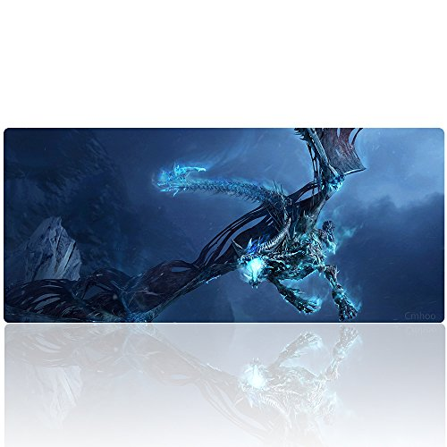 Cmhoo Desk Mouse Pad Extended XXL & Large Gaming Mat Protector Stickers 35.4 x 15.7 (90x40 Dragonfly)