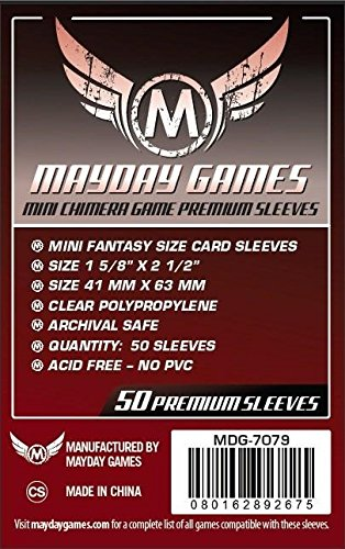 1.000 Mayday Mini US 41 x 63 Board Game Sleeves 10 Packs 7039 American
