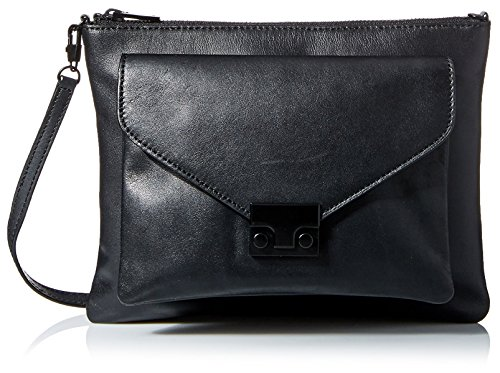 Loeffler Randall Women's Double Flat Clutch, Black by Loeffler Randall