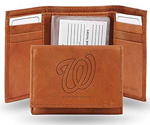 - Rico Washington Nationals MLB Embossed Leather Trifold Wallet
