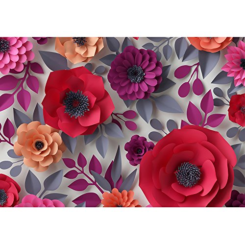 wall26 - Red Pink Flowers Bridal Bouquet - 3D Canvas Art Wall Decor - 100''x144'' by wall26 (Image #1)