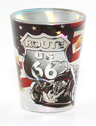 ROUTE 66 POSTER ART SHOT GLASS RTP
