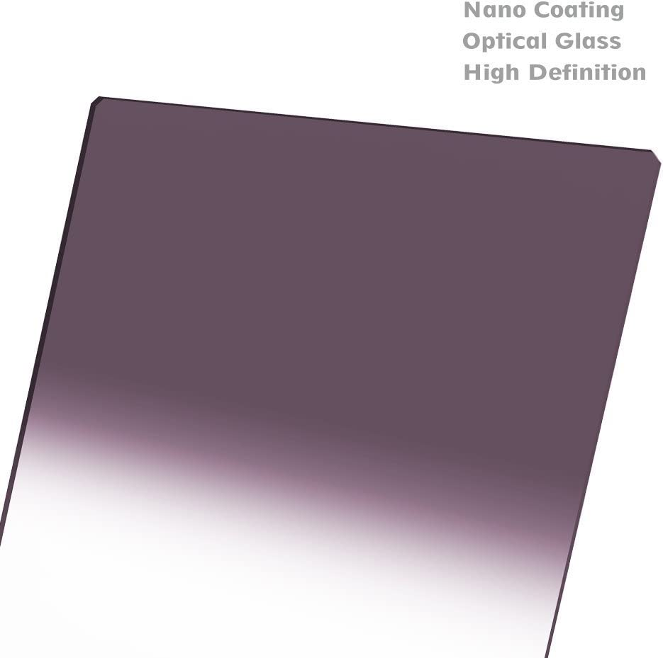 Black NiSi Reverse Graduated Neutral Density Glass Filter GND8 150x170mm 0.9 NIP-150-RGND0.9
