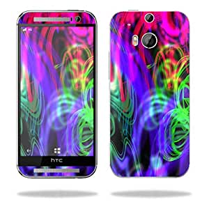 MightySkins Protective Skin Decal Cover for HTC One M8 Sticker Skins Neon Splatter