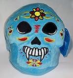 """Blue Skull Day of the Dead Día De Los Muertos 7"""" Plush"""