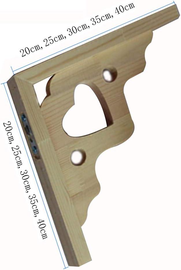 GDAN Support D/étag/ère en Bois Triangle Equerre Etagere Mural Equerre Support D/étag/ère Flottant Pin /Équerre De Fixation 2 Pi/èces