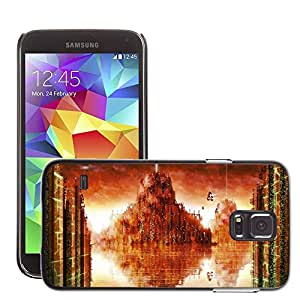 Hot Style Cell Phone PC Hard Case Cover // M00044228 city waterworld fantasy artistic // Samsung Galaxy S5 i9600