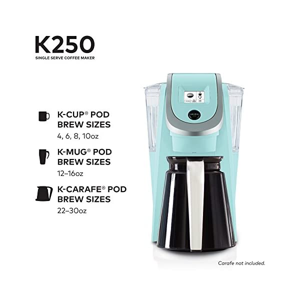 Keurig K250 Coffee Maker, Single Serve K-Cup Pod Coffee Brewer, With Strength Control, Oasis 3