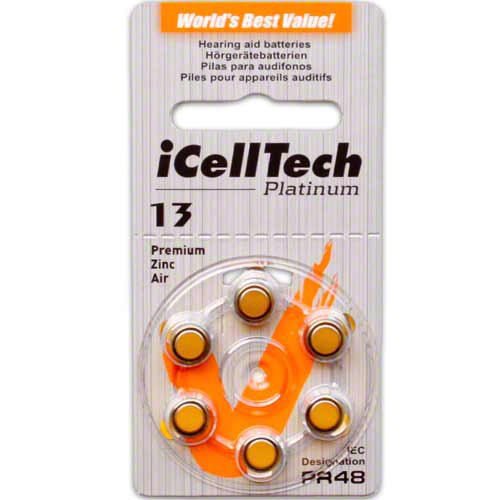 iCell Tech Size 13 Hearing Aid Batteries (60 batteries)