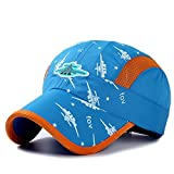 Home Prefer Kids Boys Lightweight Quick Drying Sun Hat Outdoor Sports UV Protection Caps Mesh Side Ball Cap Sky Blue