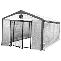 Greenhouse for Home Growers & Horticulturists - Weatherguard Garden Hot House Fully Enclosed - Heavy Duty 6' Tall Steel Panels - Lockable Gate - 10'W x 20'L x 8'H