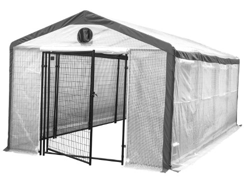 Greenhouse for Home Growers & Horticulturists – Weatherguard Garden Hot House Fully Enclosed – Heavy Duty 6′ Tall Steel Panels – Lockable Gate – 10'W x 20'L x 8'H