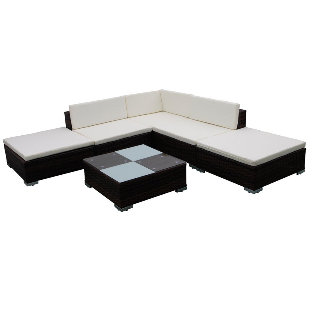 vidaxl poly rattan sitzgruppe gartenm bel lounge. Black Bedroom Furniture Sets. Home Design Ideas
