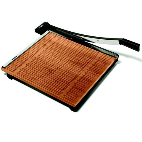 X-ACTO 082206 Commercial Grade High Use Medium Duty Self-Sharpening Steel Wood Base Paper Cutter - 20 Sheet44; 24 x 24 in. Cut