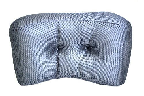 "Memory Foam Lumbar Support Cushion - Back Support Pillow with Ergonomic Design for Comfort, Pain Ease, Back Protection and Postural Improvement - Office, Car, Chair (Gray, Large 17""x10""x6"") by Royal Brands"