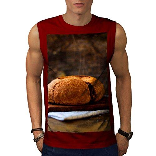 wellcoda Bread Bakery Kitchen Food Men Red 2XL Sleeveless T-Shirt