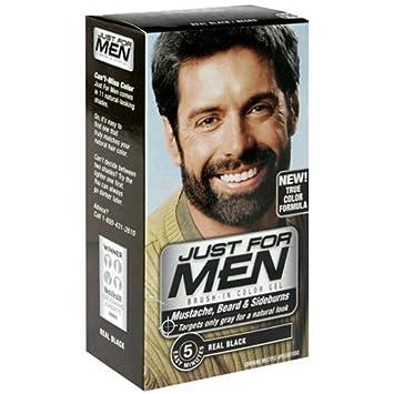 Amazon.com : Just For Men Mustache & Beard #M-55 Real Black Color ...