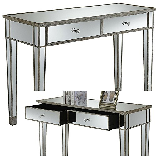 Narrow Sofa Table With Drawers: Amazon.com: Mirrored Console Table With Drawers White Wood