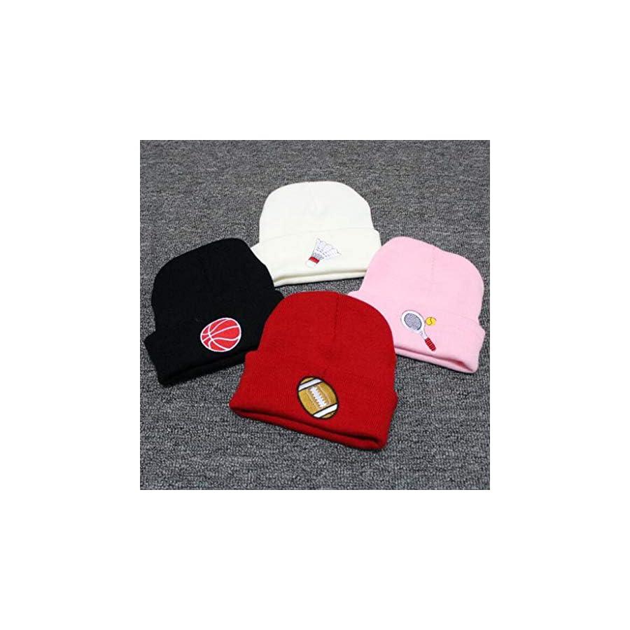Jesse Unisex Winter Sport Embroidery Knitted Hat, Hip Hop Skullies Cuff Cap Ski Cap
