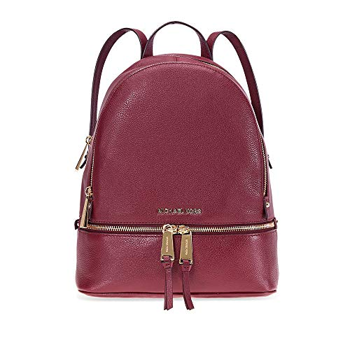 Michael Kors Rhea Medium Leather Backpack Oxblood