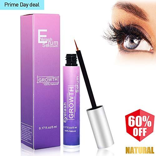 Eyelash Growth Serum LINTEC 100% Natural Brow Lash Growth Serum Enhancer Eyelashes Liquid for Long/Thick Lashes-FDA Approved & Hypoallergenic